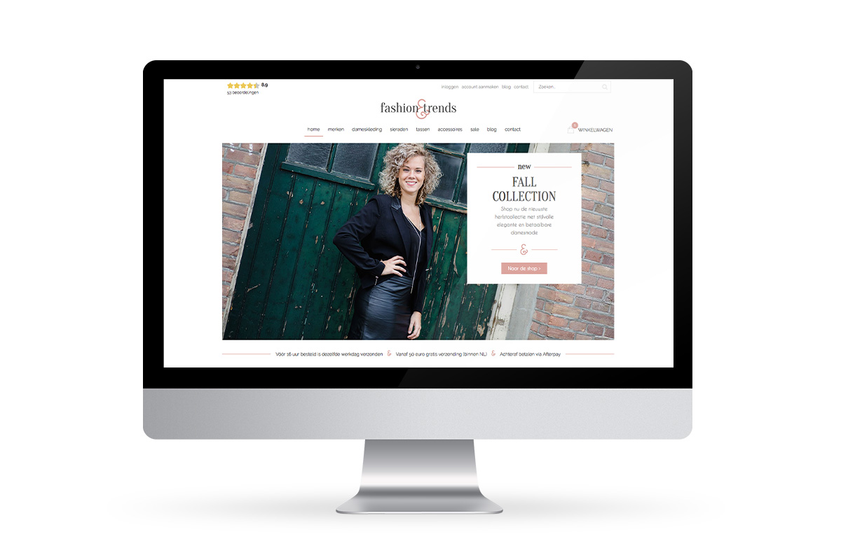 Fashion & Trends webshop ontwerp